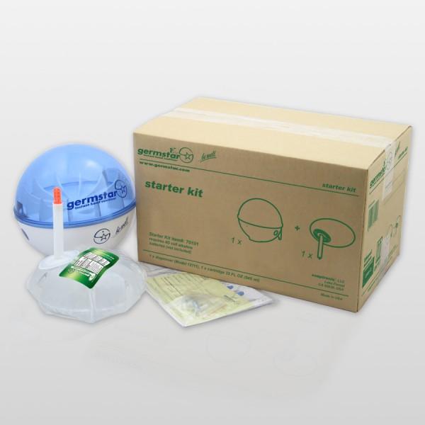 Germstar® Desinfektionsspender Starter Kit weiß-blau Citrus
