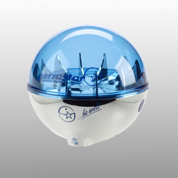 Germstar® Desinfektionsspender chrom-blau