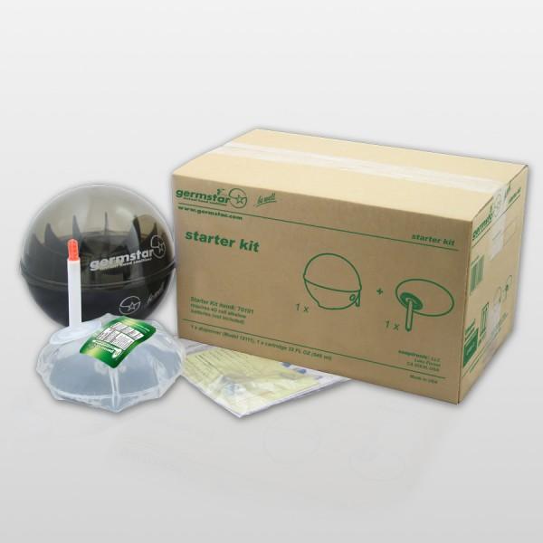 Germstar® Desinfektionsspender Starter Kit schwarz-anthrazit Citrus
