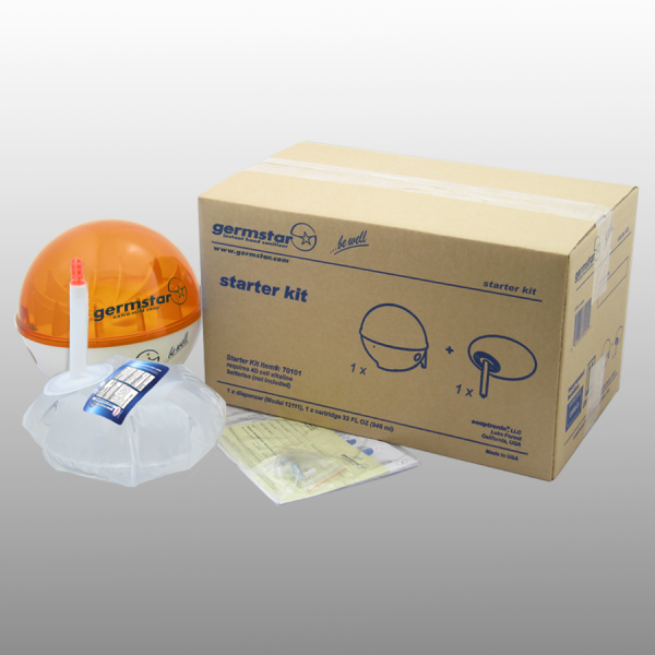 Germstar® Desinfektionsspender Starter Kit weiß-orange Original