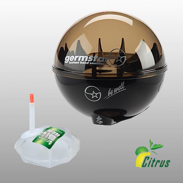 Germstar® Desinfektionsspender Starterkit schwarz-anthrazit Citrus