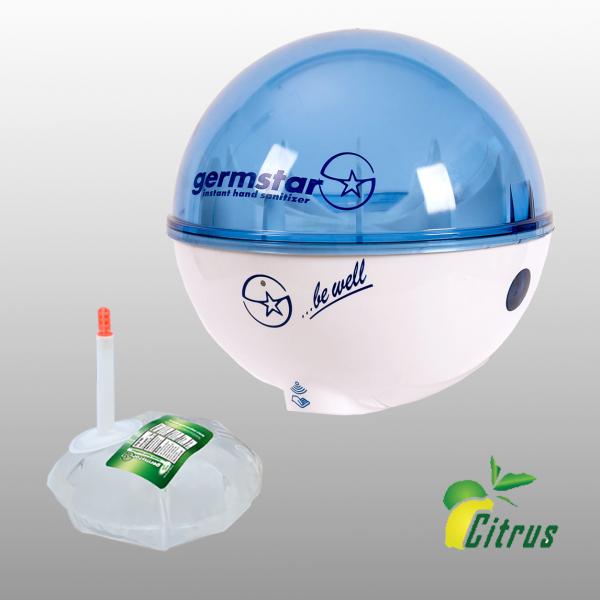 Germstar® Desinfektionsspender Starterkit weiß-blau Citrus