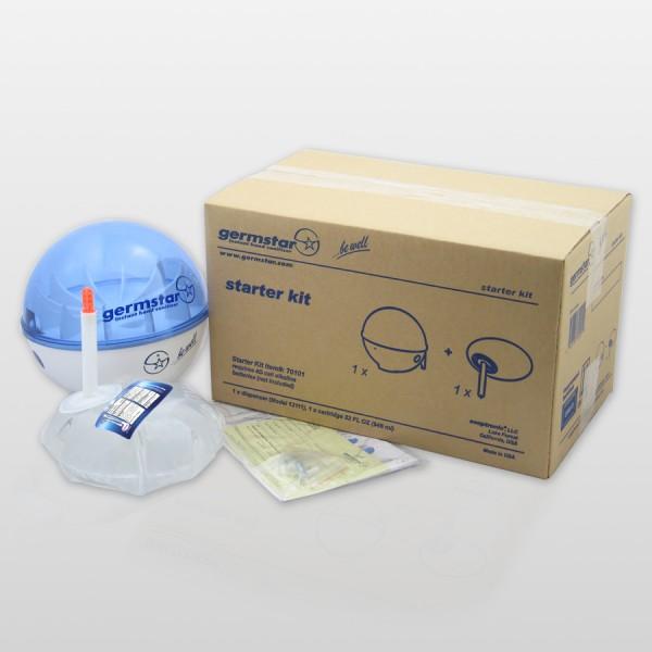 Germstar® Desinfektionsspender Starter Kit weiß-blau Original