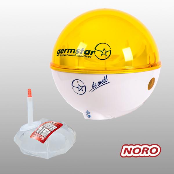 Germstar® Desinfektionsspender Starterkit weiß-gelb Noro