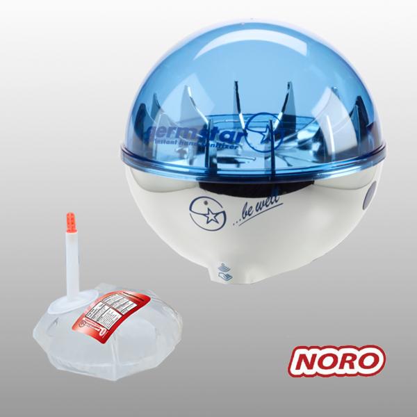 Germstar® Desinfektionsspender Starterkit chrom-blau Noro