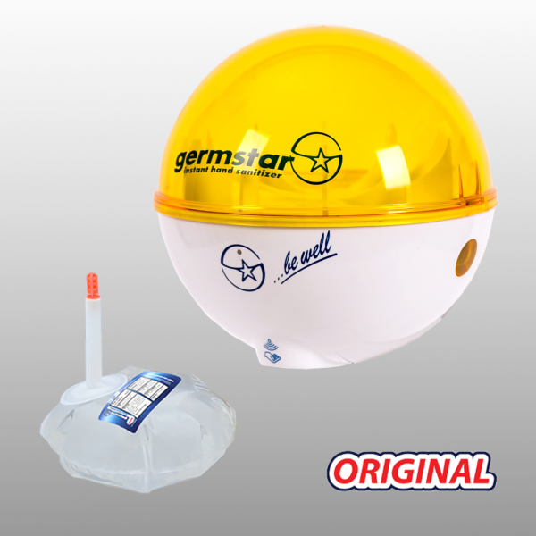 Germstar® Desinfektionsspender Starterkit weiß-gelb Original
