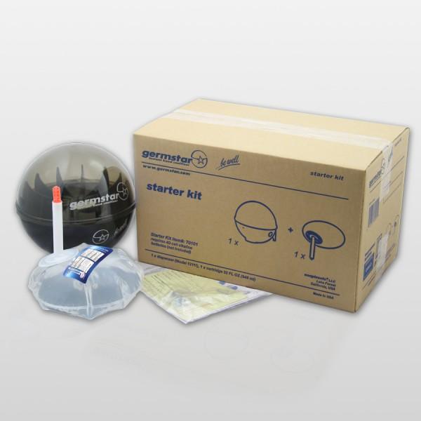 Germstar® Desinfektionsspender Starter Kit schwarz-anthrazit Original