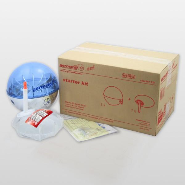 Germstar® Desinfektionsspender Starter Kit chrom-blau Noro