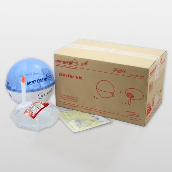 Germstar® Desinfektionsspender Starter Kit weiß-blau Noro