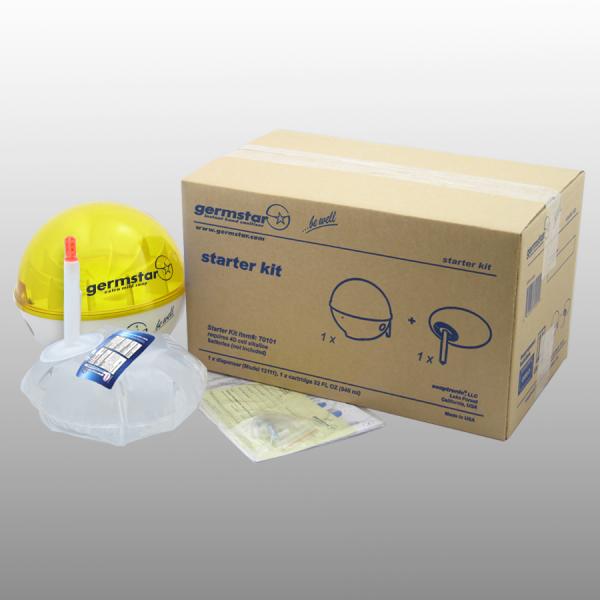 Germstar® Desinfektionsspender Starter Kit weiß-gelb Original