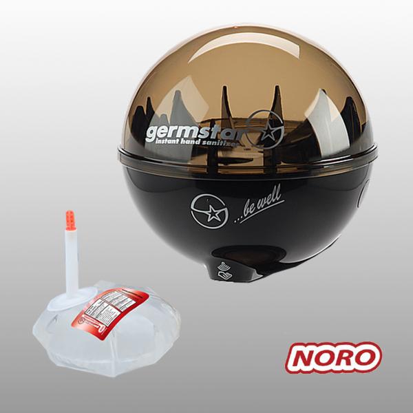 Germstar® Desinfektionsspender Starterkit schwarz-anthrazit Noro