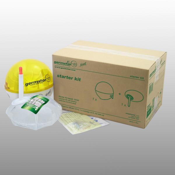 Germstar® Desinfektionsspender Starter Kit weiß-gelb Citrus