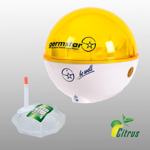 Germstar® Desinfektionsspender Starterkit weiß-gelb Citrus