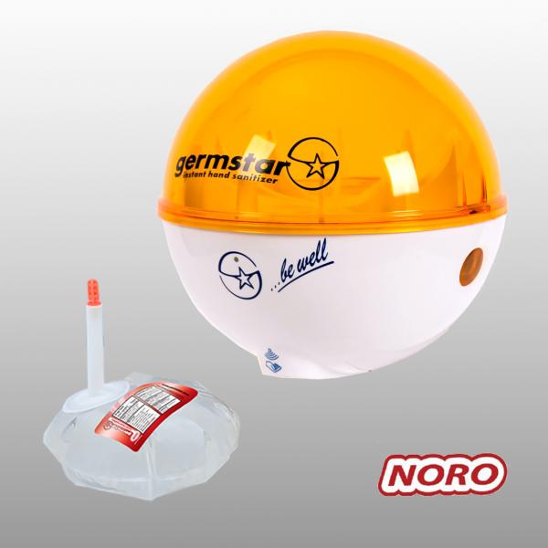 Germstar® Desinfektionsspender Starterkit weiß-orange Noro