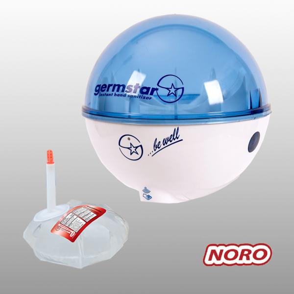 Germstar® Desinfektionsspender Starterkit weiß-blau Noro