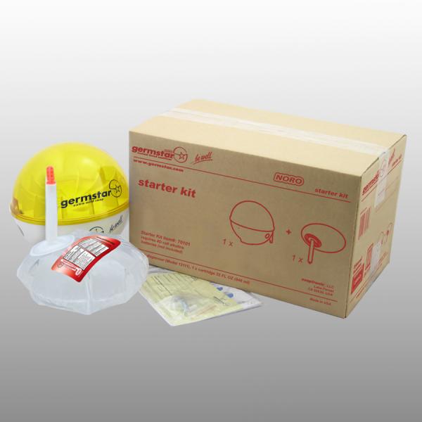 Germstar® Desinfektionsspender Starter Kit weiß-gelb Noro