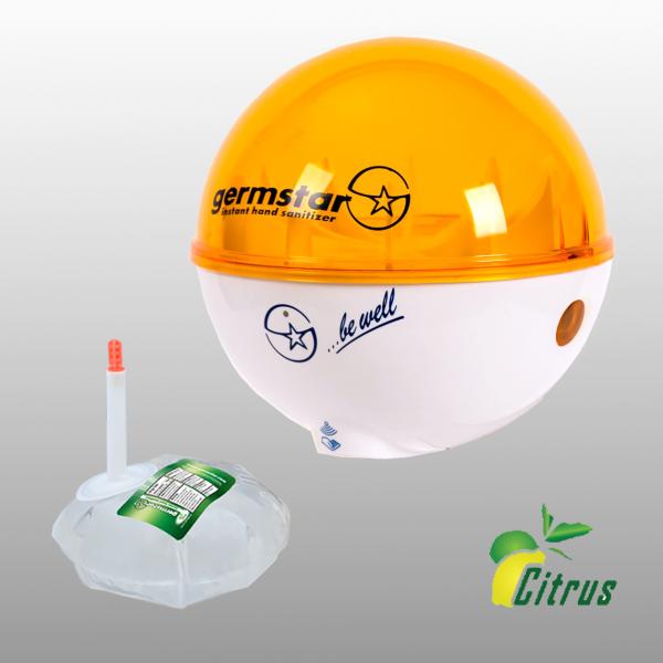 Germstar® Desinfektionsspender Starterkit weiß-orange Citrus