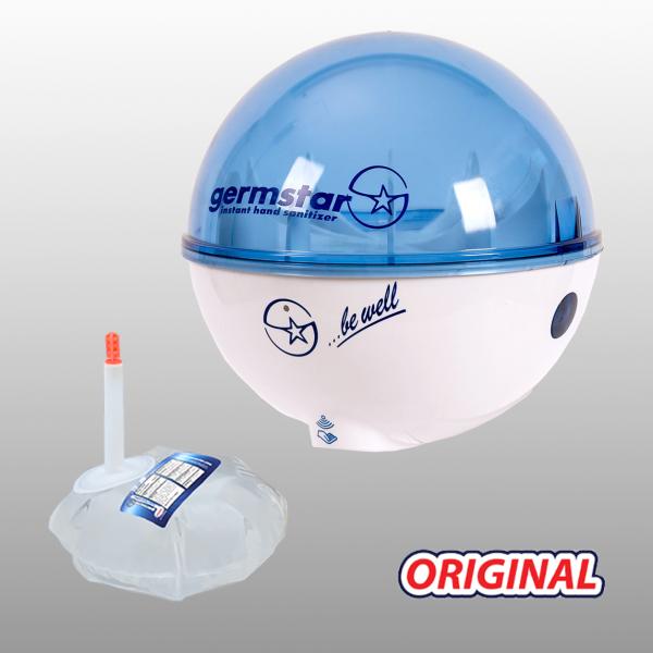 Germstar® Desinfektionsspender Starterkit weiß-blau Original