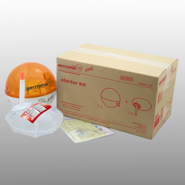 Germstar® Desinfektionsspender Starter Kit weiß-orange Noro