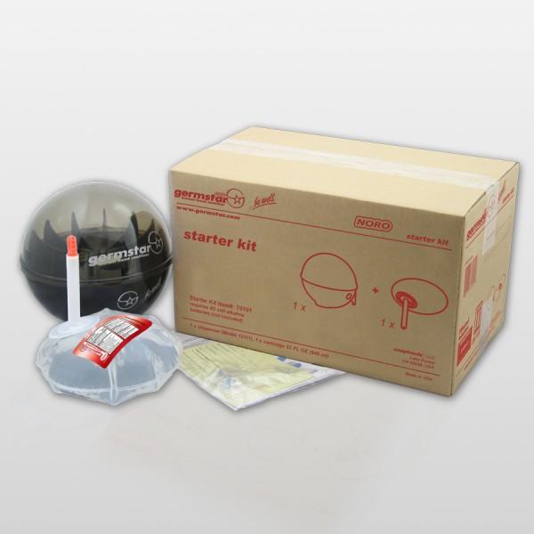 Germstar® Desinfektionsspender Starter Kit schwarz-anthrazit Noro